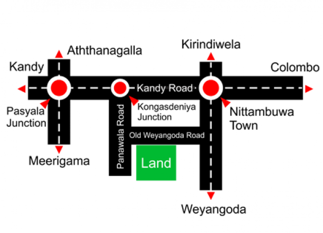 valuble two lands for sale in nittambuwa